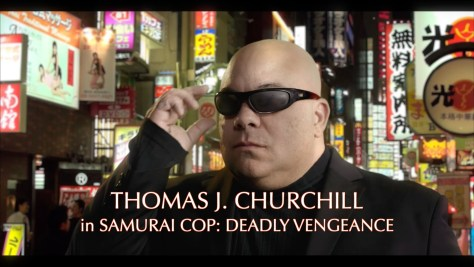 He wears his sunglasses at night! Still of actor and award-winning Thomas J. Churchill