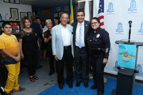 Farahanipour with Mayor Delshad and West Los Angeles LAPD Captain Tina Nieto