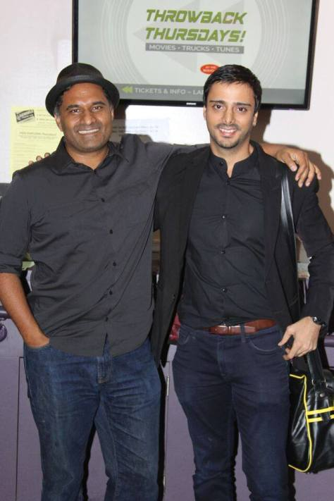 Festival Co-founder Amir Masud with actor and filmmaker