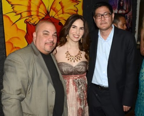 With two filmmakers I admire, Thomas J. Churchill and Gregory Hatanaka. Photo courtesy of Billy Bennight/PR Photos