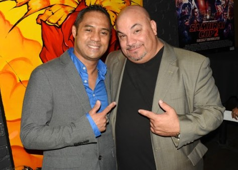 Filmmakers and actors Tyrone Tann and Thomas J. Churchill. Photo courtesy of Billy Bennight/PR Photos