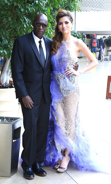 Photographer and publisher Winston Burris with actress Blanca Blanco