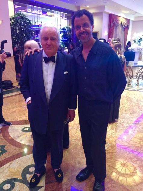 Clement von Franckenstein with Hollywood Press Corps' Adrian Brooks Collins