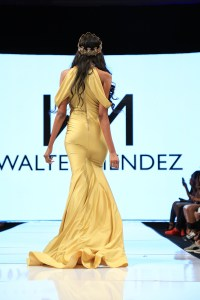 Walter Mendez full length gowns were all the rage at the Art Hearts Fashion Week LA 2016. Photo courtesy BurrisAgency.com