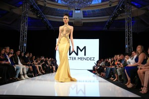 Walter Mendez' full length gown were all the rage at the Art Hearts Fashion Week L.A. Fall/Winter 2016 runway. Photo courtesy BurrisAgency.com
