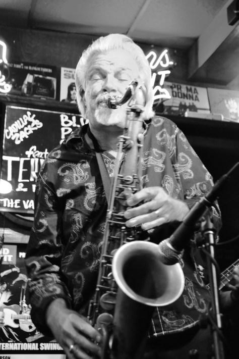 Terry Hanck on saxophone