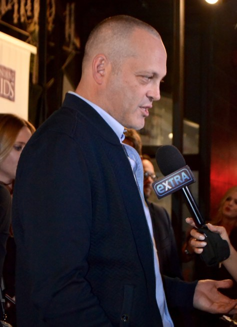 Vince Vaughn being interviewed on the red carpet photo courtesy of Judy Hansen Pullos