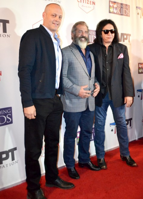 "Vince Vaughn, Mel Gibson and Gene Simmons host ""Four Kings & an Ace"" photo by Judy Hansen Pullos"