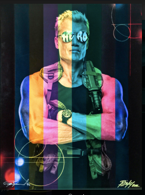 Action Hero Dolph Lundgren by Per Bernal in collaboration with Kelly Risk Graval