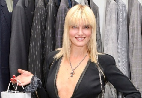 International model and actress, Eugenia Kuzmina, with her VIP swag bag that included a silk tie. Photo courtesy SmugMug
