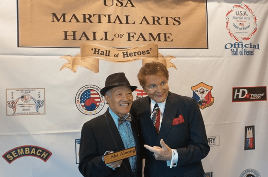 Legendary actors and martial artists Aki Aleong and Mel Novak are inducted into the prestigious USA Martial Arts Hall of Fame