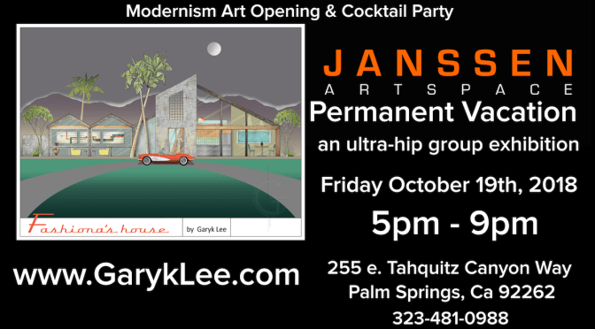 Artist Garyk Lee To Exhibit At Janssen Artspace For Modernism Art Opening & Cocktail Party 10/19/18