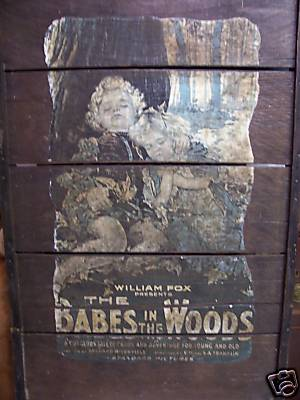THE BABES IN THE WOODS: 1917 Mounted Movie Poster
