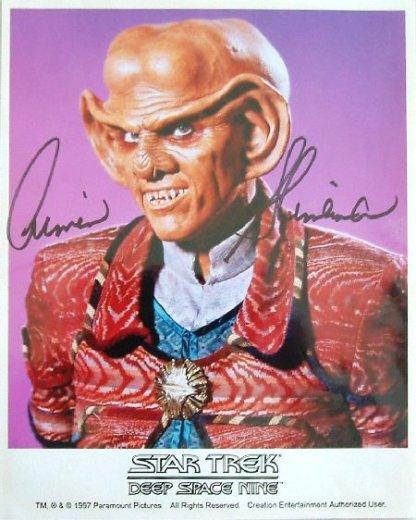 STAR TREK: Autographed Quark Picture