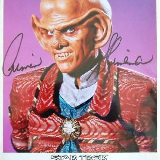 STAR TREK: Autographed Quark Picture