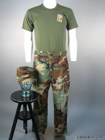 HOOT: Drill Sargent Camo Cap, Pants, Shirt & Belt