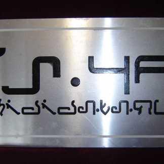 ULTRAVIOLET: Silver Futuristic License Plate Prop