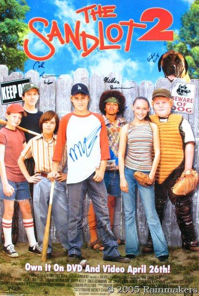 THE SANDLOT 2: Autographed Movie Poster No.6 of 30