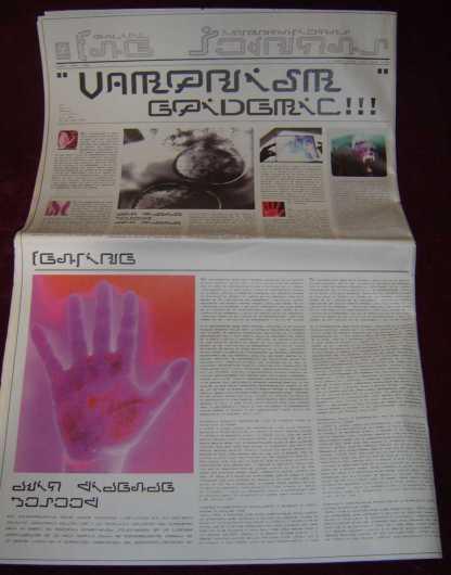 ULTRAVIOLET: Futuristic Newspaper w/Photo & Symbol