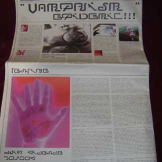 ULTRAVIOLET: Futuristic Newspaper w/Photo & Symbol