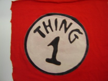 CAT IN THE HAT: THING 1'S SILK SCREENED LOGO
