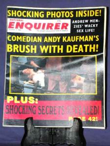 MAN ON THE MOON: National Enquirer Prop
