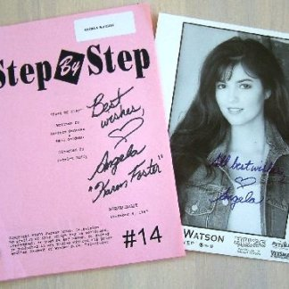 STEP BY STEP: Karen Forster Autograph Script & Pic