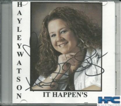 HAYLEY WATSON: IT HAPPENS - Autographed CD