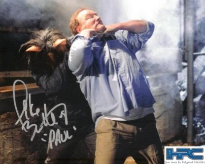 SAW V: AUTOGRAPHED PIG FIGHT PHOTO BY MIKE BUTTERS