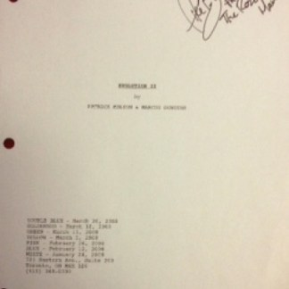 SAW V: AUTOGRAPHED MIKE BUTTERS SCRIPT