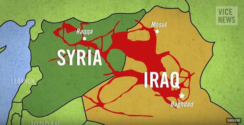 イスラム国支配地域シリア~イラク