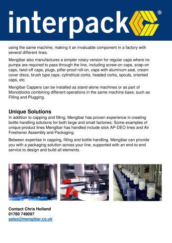 Mengibar UK - Interpack information sheet 2