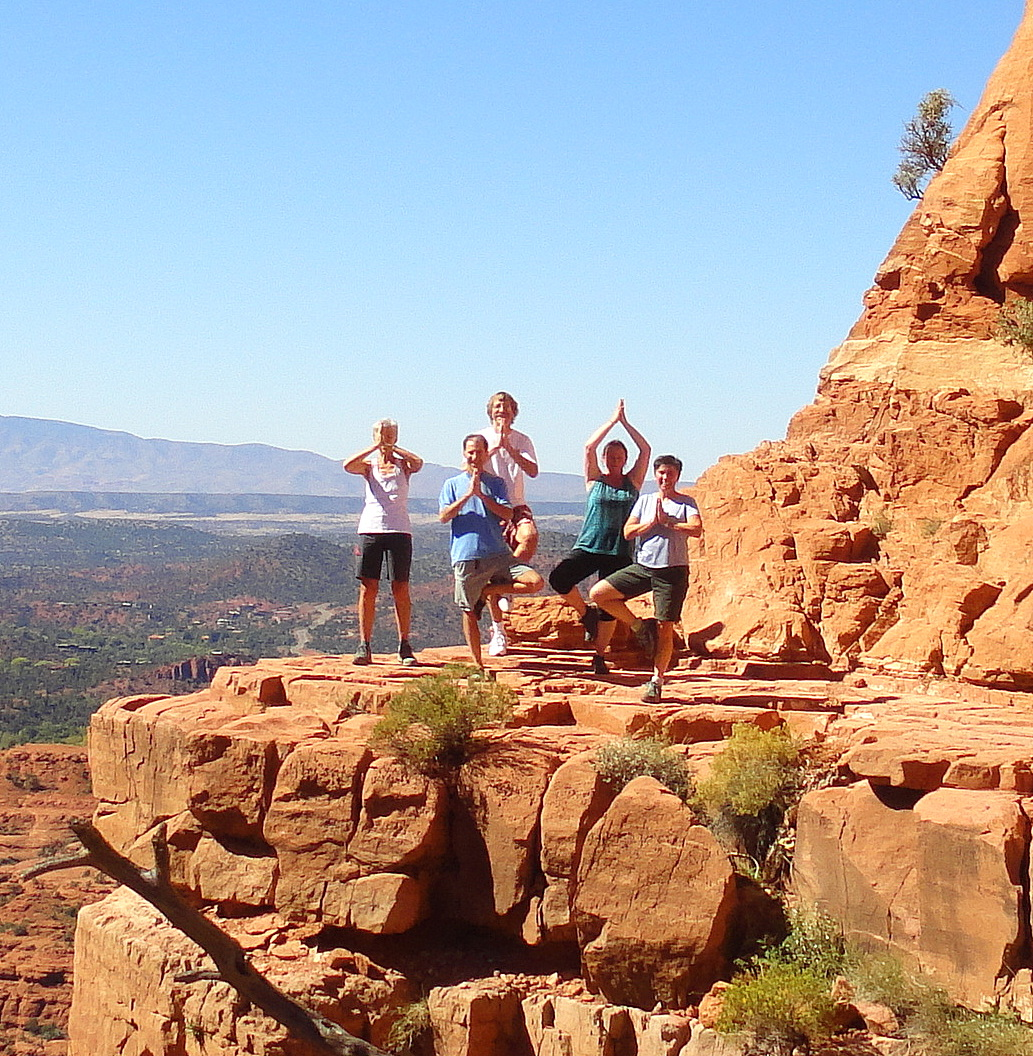 Roy with Yoga Retreat Attendees in Sedona, Arizona