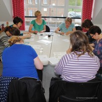 A Holmes-made Papercutting workshop in full flow