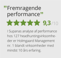 Fremragende Performance Rekruttering og headhunting - Holmgaard Management