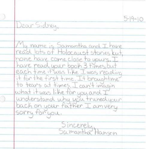 student letter 1