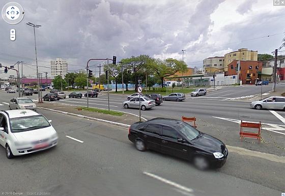Cruzamento Luiz Dumond Vilares via Google Maps