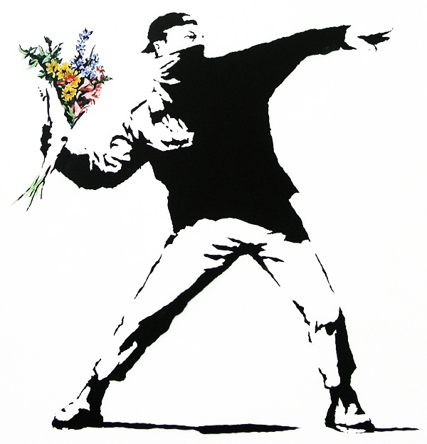 Banksy: flowerchucker