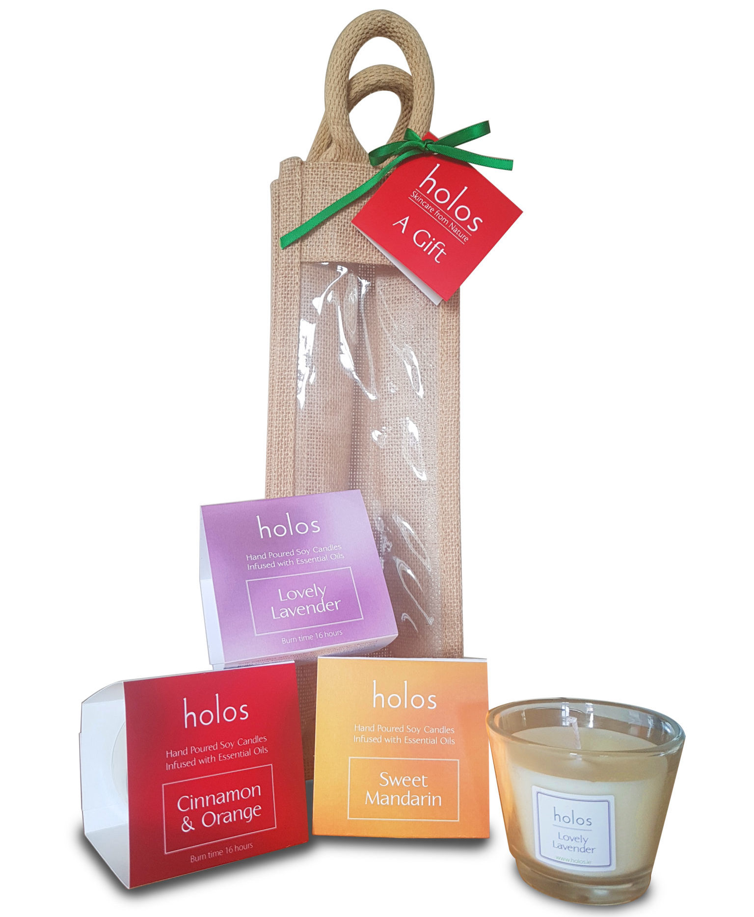 Soy Candle Gift (3 Candles) | Holos Skincare