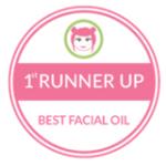 1st Runner Up award for Best Facial Oil Holos skincare