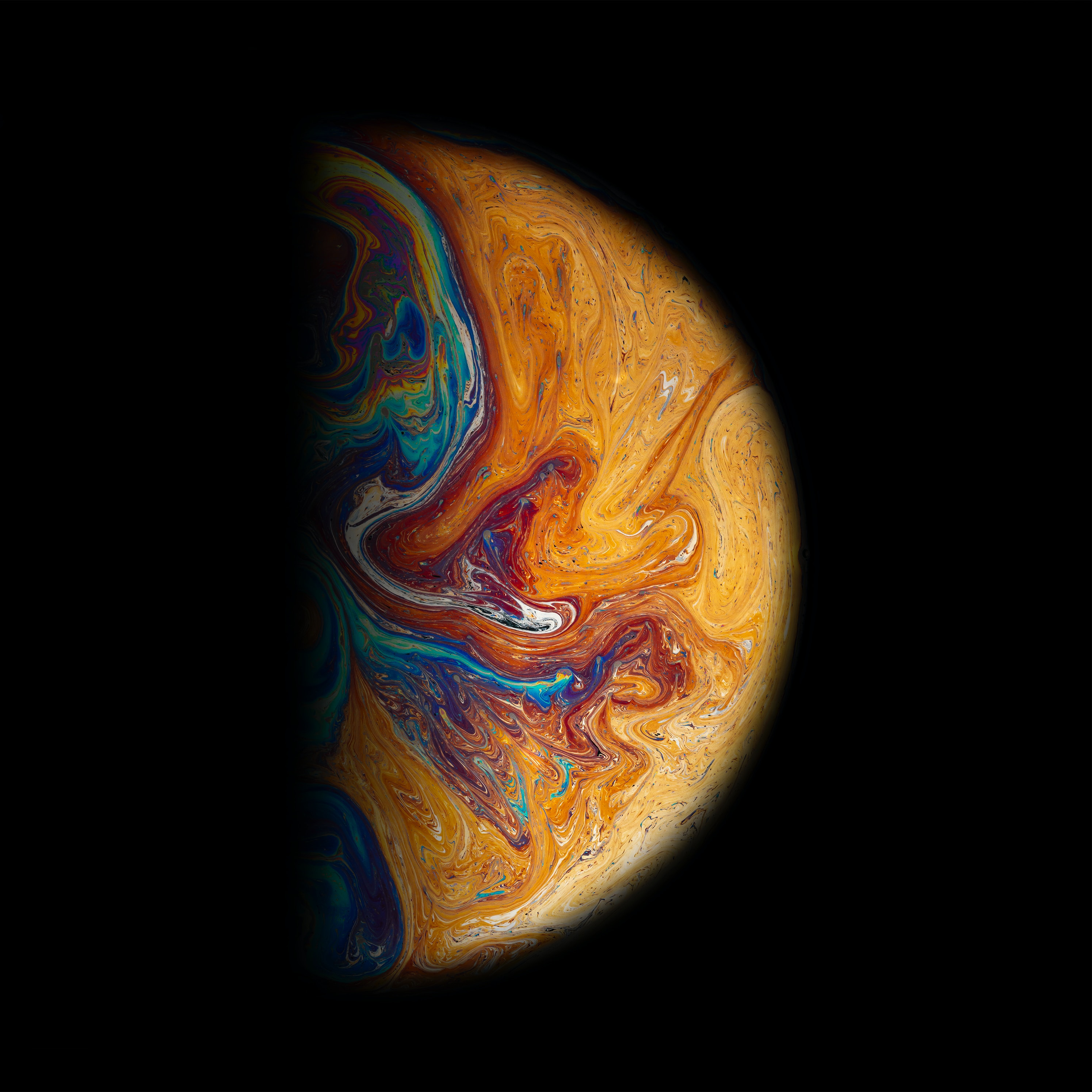 painting of planet