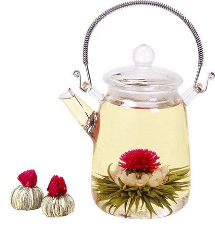 12 Flowering Tea Balls, flower tea, white tea, Flowering tea, blooming flowers, tea gift for her, handmade, girlfriend gift, handmade tea