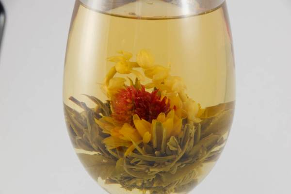 blooming tea balls Courtyard 3x, Tea, flowers tea, white tea, Flowering tea, blooming flowers, tea gift for her, handmade, girlfriend gift