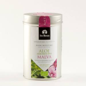 Bio Herbal Tea Aloe & Mallow, Aloe Arborescens, Malva Sylvestris, flower tea, organic tea, aromatic tea, gift for her, Plants and Edibles,