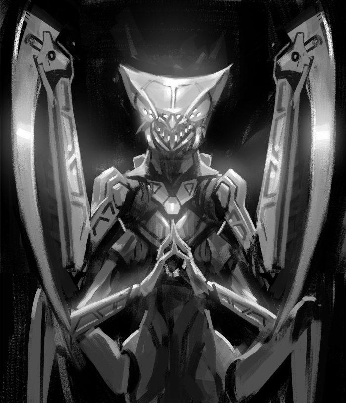 Time Reavers Mantis rough sketch 1