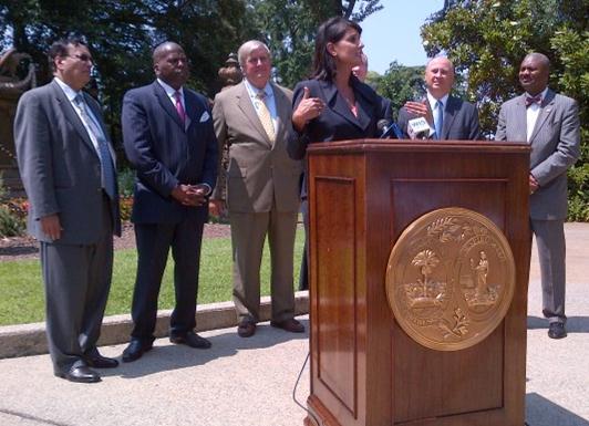 Governor Nikki Haley Speaks at the SMR Press Conference