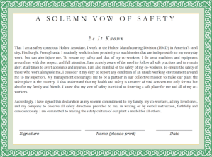 Vow of Safety