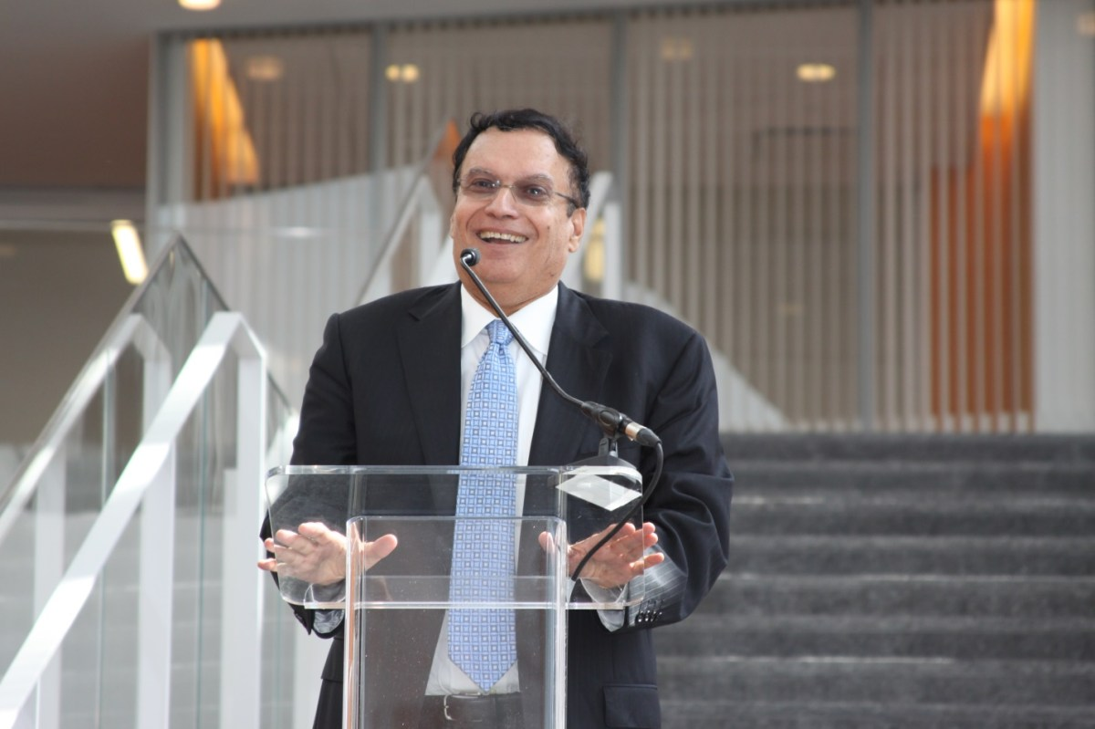 Dr. Singh Speaks at the Dedication Ceremony