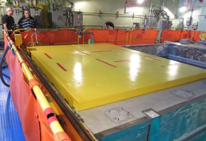 Load Drop Protective Cask Platform