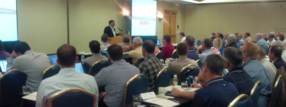 """Dr. Kris Singh, Holtec International President and CEO, presenting """"Canister Aging Management Strategies for Ensuring Long Life"""""""